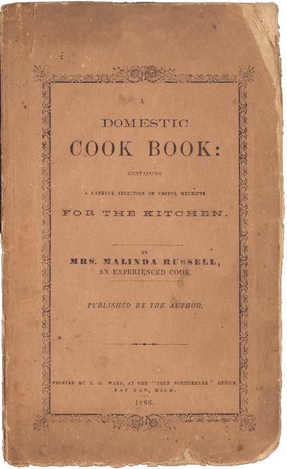 Malinda Russell Cookbook