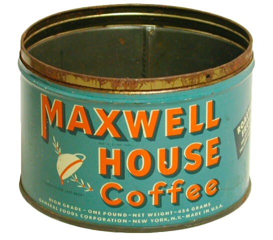 Maxwell House Coffee Tin from about 1955-1965 (Tennessee State Museum Collection)