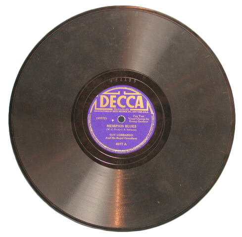 "Record of ""Memphis Blues"" by W.C. Handy, a student of Julia Britton Hooks."