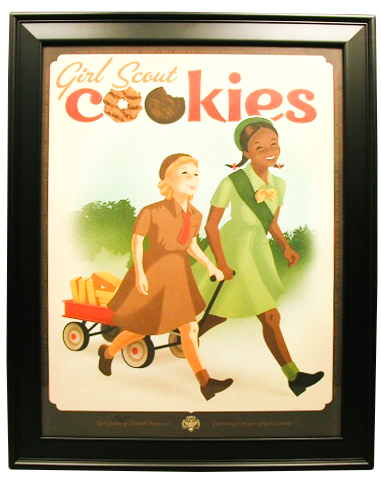 This poster was used at the Tennessee State Museum for their celebration of the Girl Scouts' 100 Year Anniversary in 2012, Tennessee State Museum Collection.