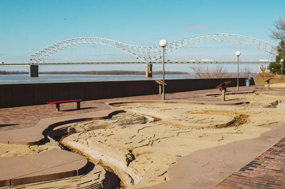 Memphis's Mud Island: The Complete Guide (tripsavvy.com): Taylor McIntyre: A portion of the Mississippi River replica you can walk along.