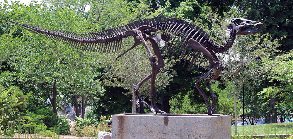 """Monty"" the Edmontosaurus statue, Frank H. McClung Museum"