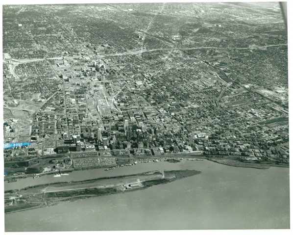 You can see the airport on Mud Island in the front of this picture.