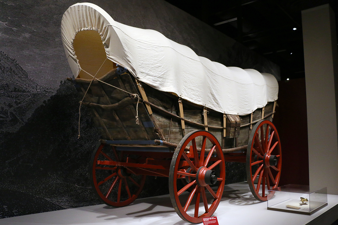 Conestoga Wagon in the Forging a Nation Gallery.