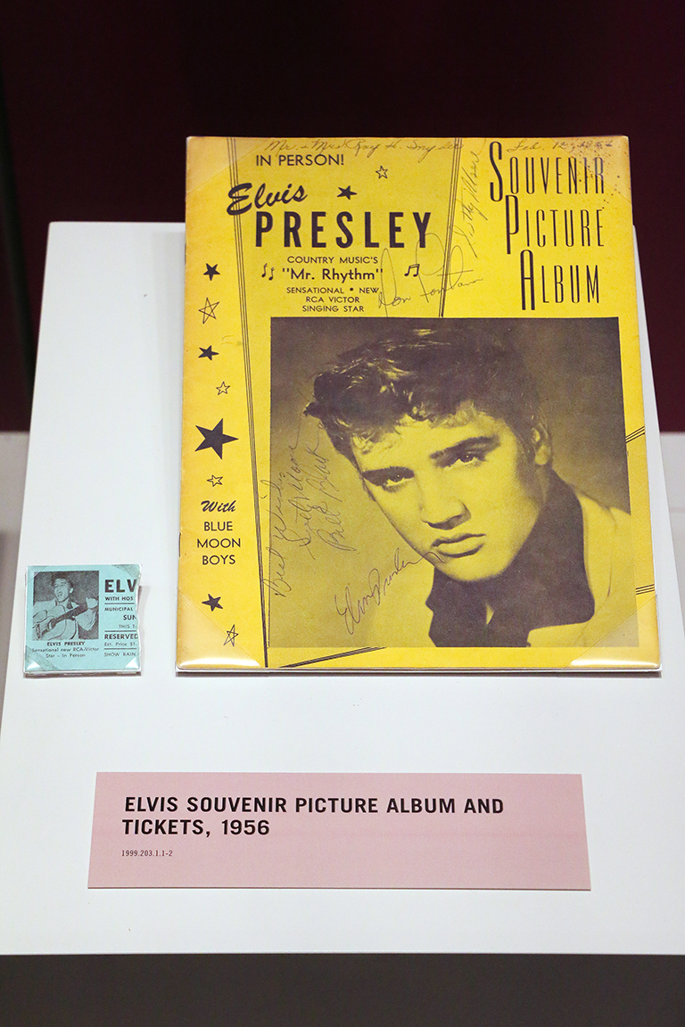 Elvis artifacts from 1956.