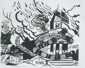 Political Cartoon by Segregationists. TSM Collection.