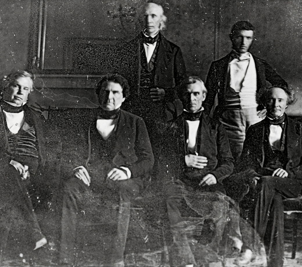President Polk's Cabinet – Cave Johnson in the back center James K. Polk Memorial collection
