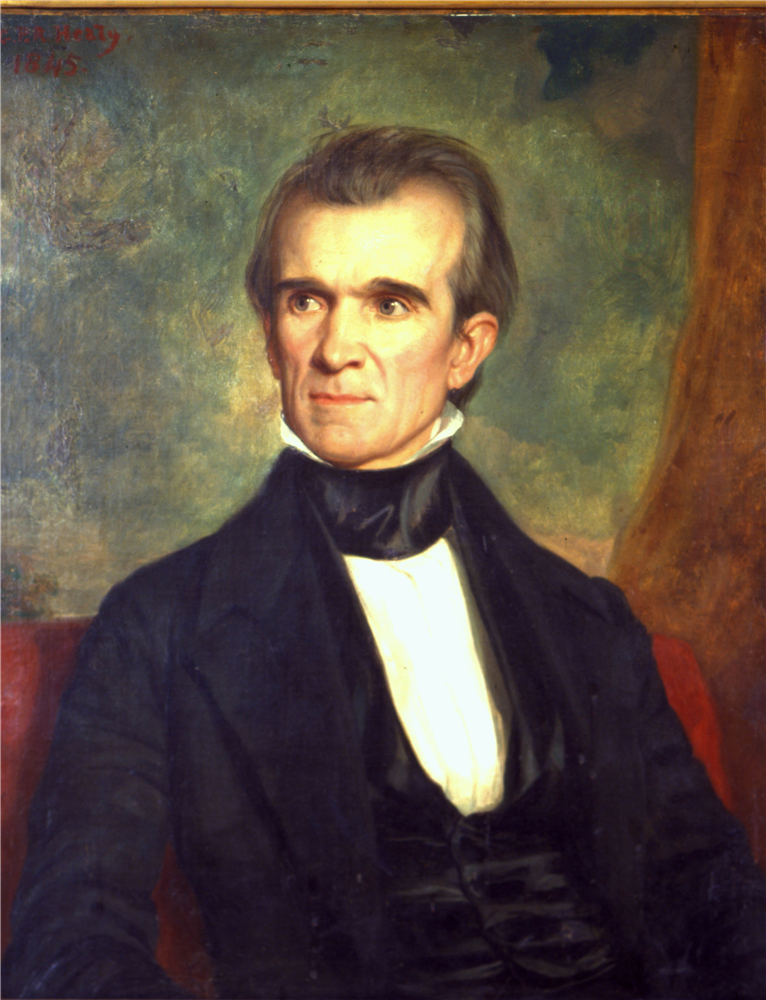 Polk Painting by George Healy, Tennessee State Museum Collection.