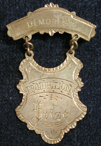 Prohibition Prize Medal