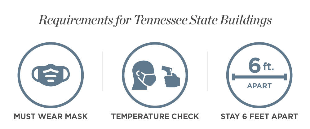 Requirements for State Buildings Include Wear Masks, Checking Temperatures and Maintaining Social Distancing