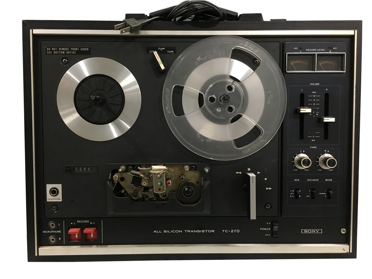 Sony TC270 Reel-to-reel tape player (2016.169.2.1)