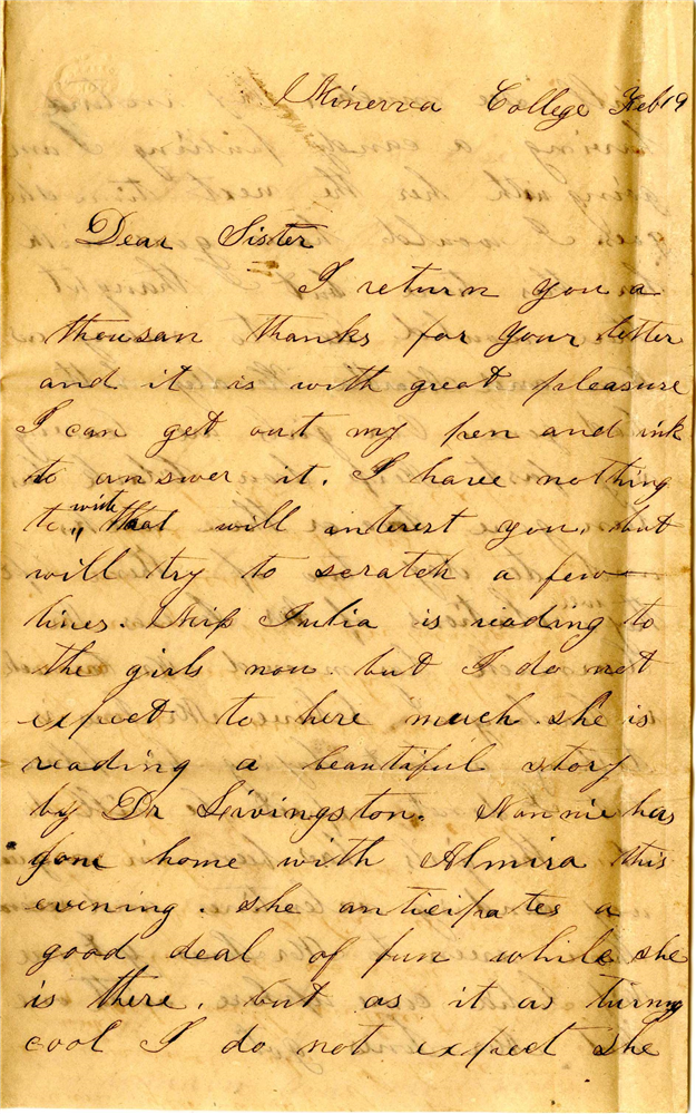 Sarah Brown letter, Tennessee State Museum Collection.