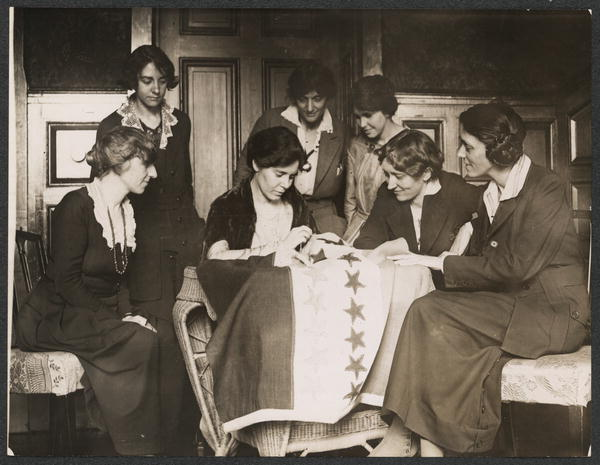 When Tennessee the 36th state ratified, Aug 18, 1920, Alice Paul, National Chairman of the Woman's Party, unfurled the ratification banner from Suffrage headquarters.