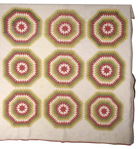 Star Pattern Quilt, 1855-1860, 80.177