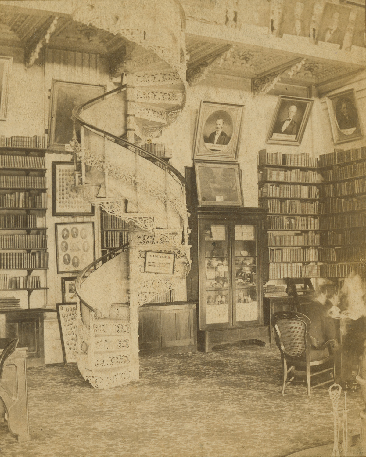 Stereoview Capitol Library by Thuss Koellein & Giers 1884 To 1885