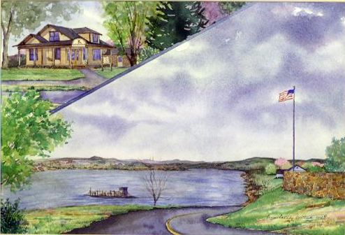 "Susan Cassidy Wilhoit, ""Wayne County. T. S. Stribling Museum, and the Clifton Ferry across the Tennessee River.(1999.192.35)"
