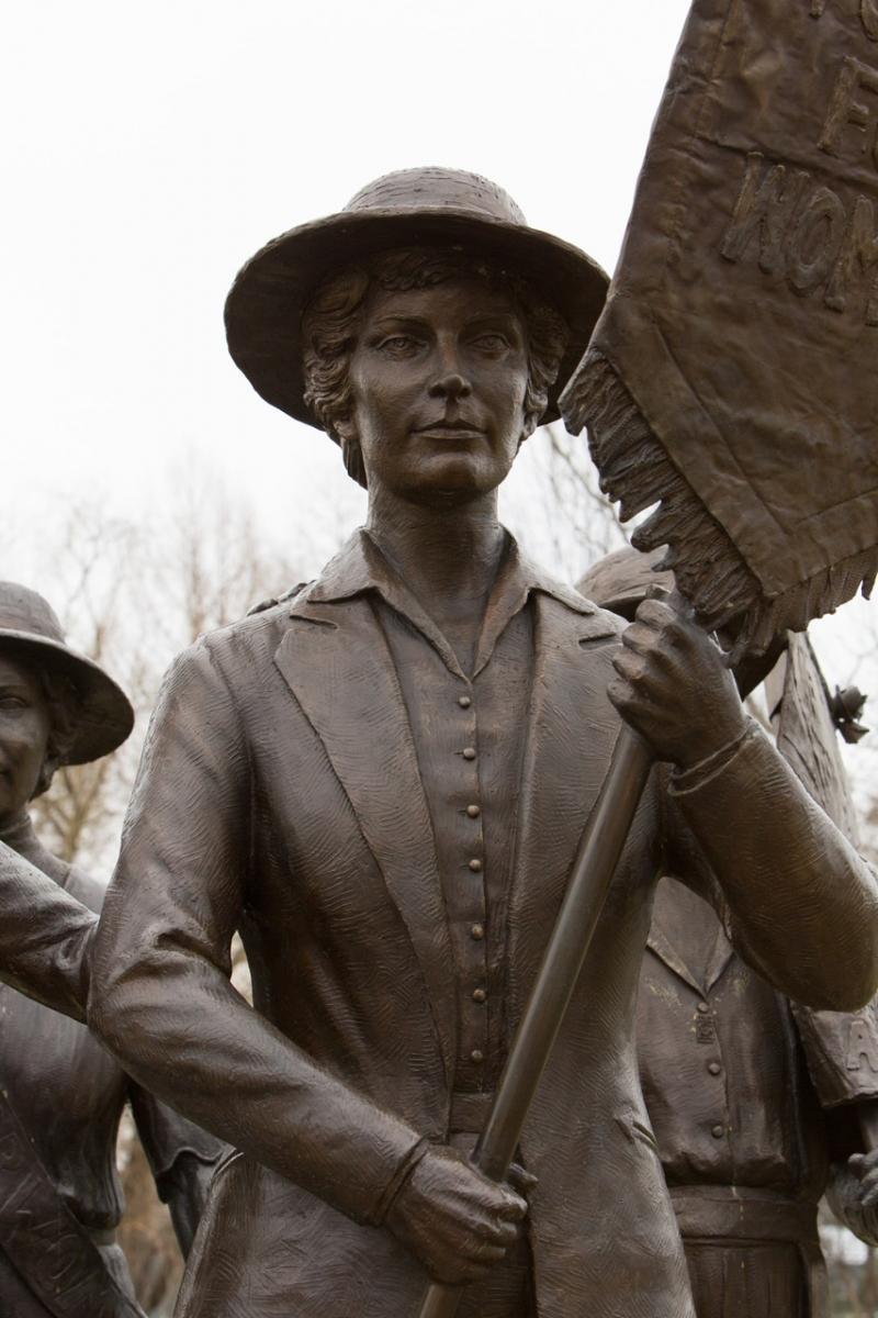 Anne Dallas Dudley as Part of Alan Lequire's Nashville Women's Suffrage Memorial