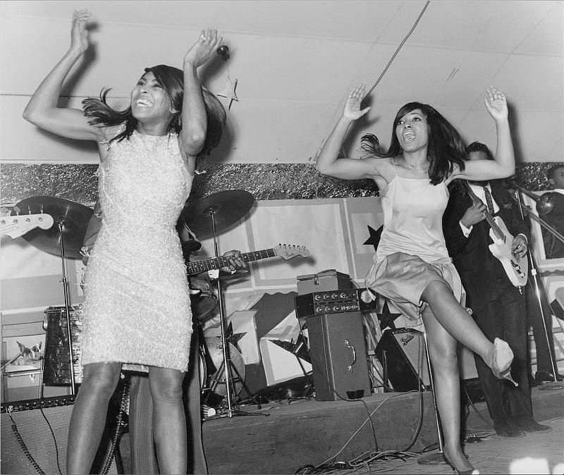 Tina (Left) and bandmate Ann Thomas (Right) perform in Memphis, TN. Courtesy of the Library of Congress.