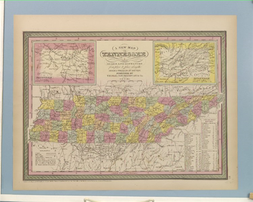 Thomas, Cowperthwait Co map of Tennessee Tennessee State Museum Collection