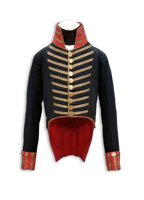 Artillery uniform jacket worn during the War of 1812, Tennessee State Museum Collection.