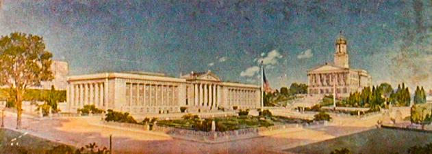 Rendering of War Memorial, 1922