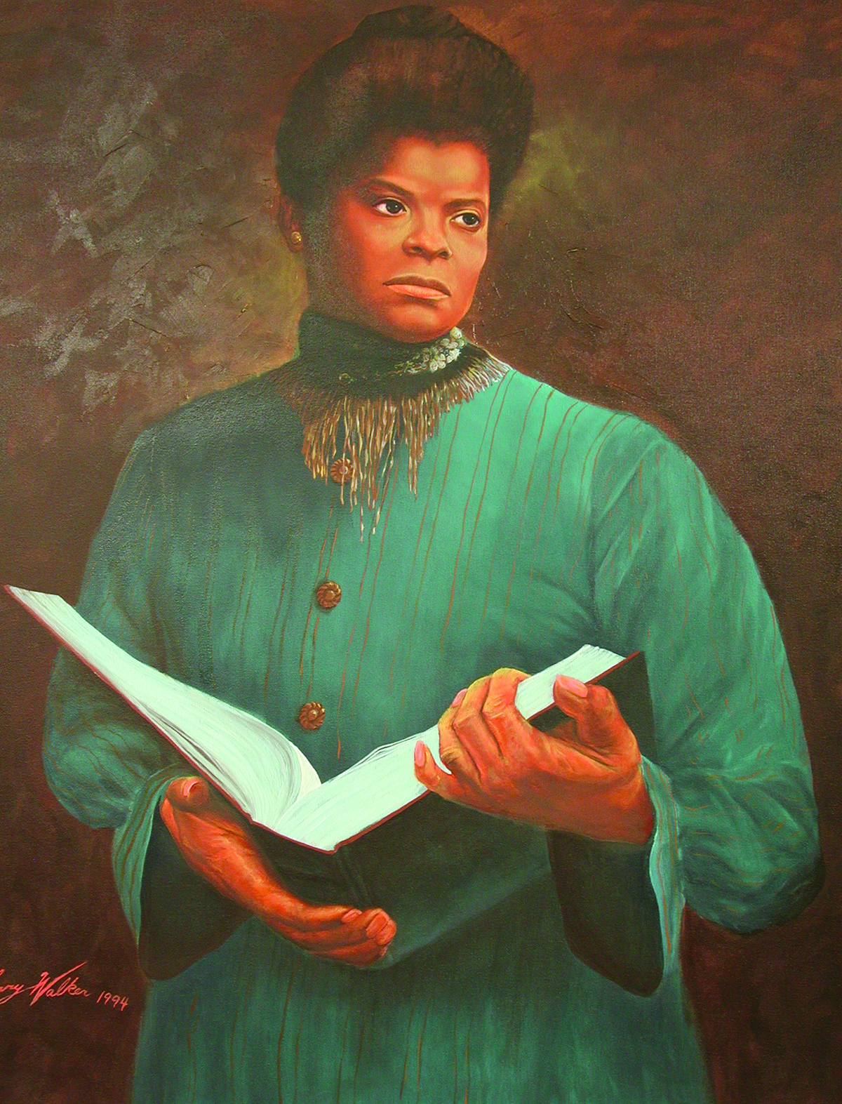 Ida B. Wells (1862-1931), journalist, anti-lynching advocate and suffragist, by Larry Walker, Oil on Canvas, 1994