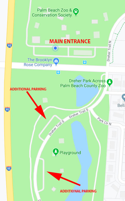 ride sharing for palm beach zoo map