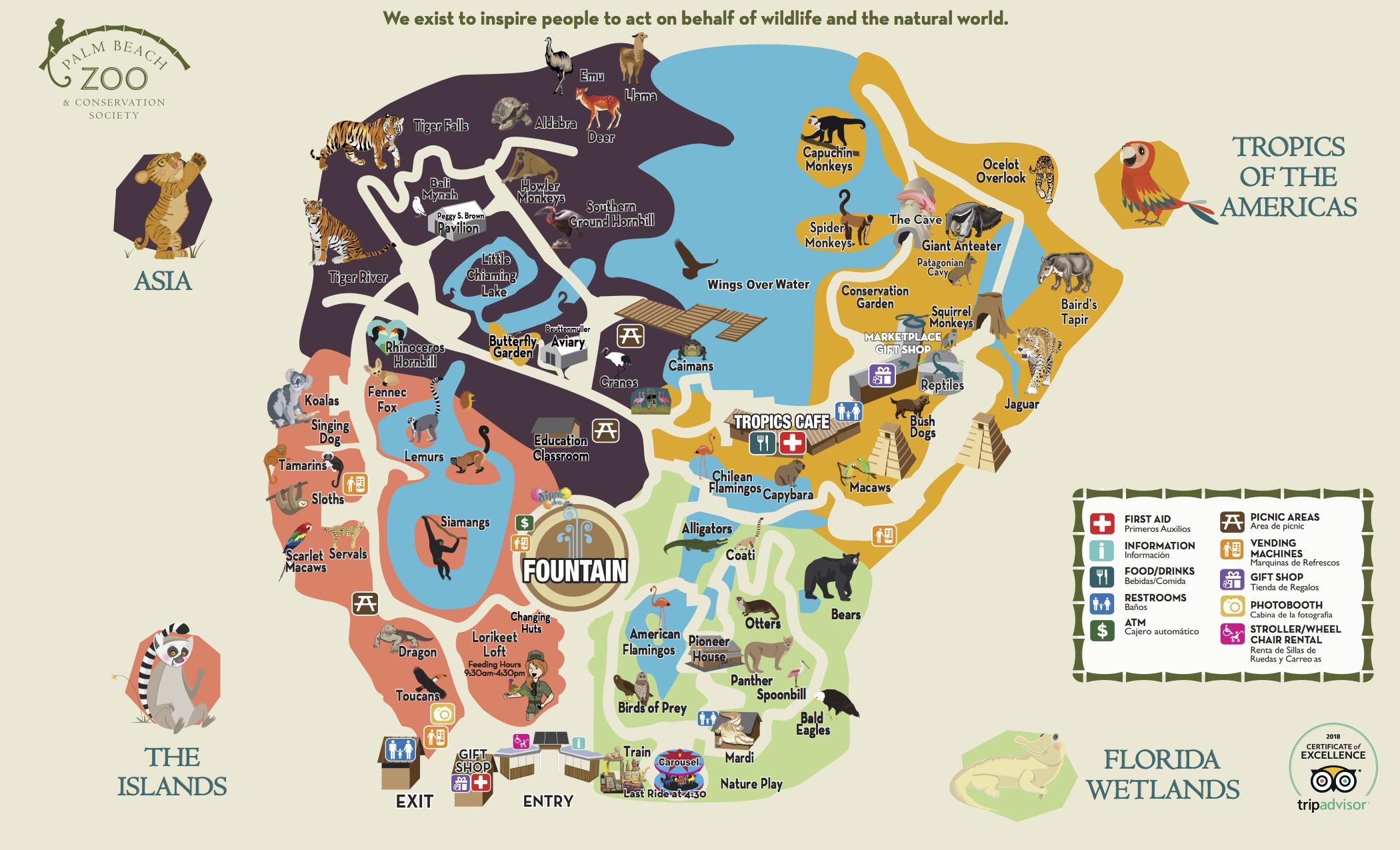 Palm Beach Zoo Map