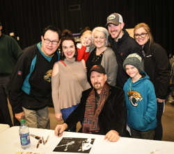 James Burton met with fans after the concert.