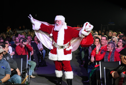 An Elvis-inspired Santa was on hand for the holiday concert.