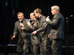 The Blackwood Brothers Quartet performed their favorite gospel hits.