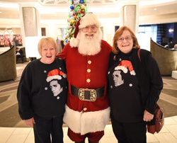 Elvis fans met Santa at The Guest House at Graceland.