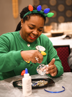 Elvis fans had a blast creating their own Elvis-inspired Christmas ornaments.