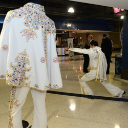 Elvis artifacts were on display inside the FedExForum during Elvis Night with the Memphis Grizzlies.