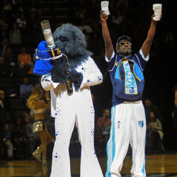 Memphis Grizzlies show their love for Elvis during the 2014 Birthday Celebration in Memphis.