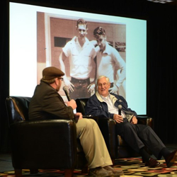 Guy Harris shares memories of growing up with Elvis in Tupelo at the Fan Club event on January 9.