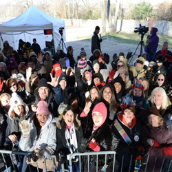 Fans from all over the world stood in below-freezing temperatures to wish Elvis a happy birthday at the Elvis Birthday Proclamation Ceremony on January 8, 2015 at Graceland.
