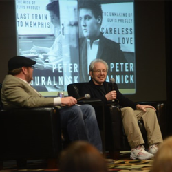 "Author Peter Guralnick, who wrote the Elvis biographies ""Careless Love"" and ""Last Train to Memphis,"" shared how he researched his books with fans at Conversations on Elvis on January 8, 2015."