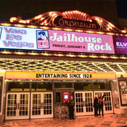 "Fans flocked to The Orpheum Theatre in Memphis for a double screening of ""Jailhouse Rock"" and ""Viva Las Vegas"" on January 9."