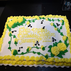 There was plenty of birthday cake for the hundreds of fans who came to Graceland on January 8.