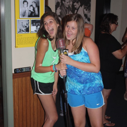 "Fans line up to take photos with the legendary mic where Elvis first recorded ""That"