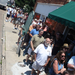Lines wrap around Sun Studio for the 60 Years of Rock