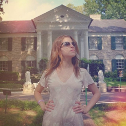 Pitch Perfect star Anna Kendrick stopped by Graceland for her 29th birthday on August 9, 2014.