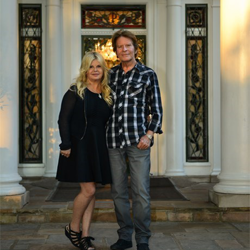 American singer-songwriter John Fogerty and his wife