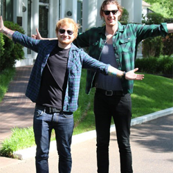 Singer-songwriters Ed Sheeran and Hozier