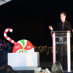 Actor John Stamos shared his memories of Graceland at the Lighting Ceremony on November 21.