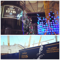 The O2 Arena in London is ready for the Elvis at The O2 exhibition, which opens December 12, 2014.