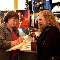 Artist Betty Harper met with fans during Elvis