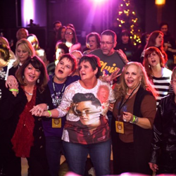 Shake, rattle and roll! Fans brought their dancing shoes for Club Elvis.