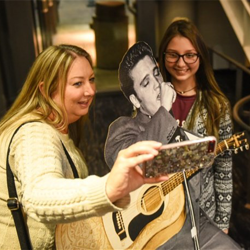 Fans snapped selfies with Elvis ahead of the Memphis Symphony Orchestra concert.